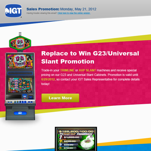 IGT email campaign design