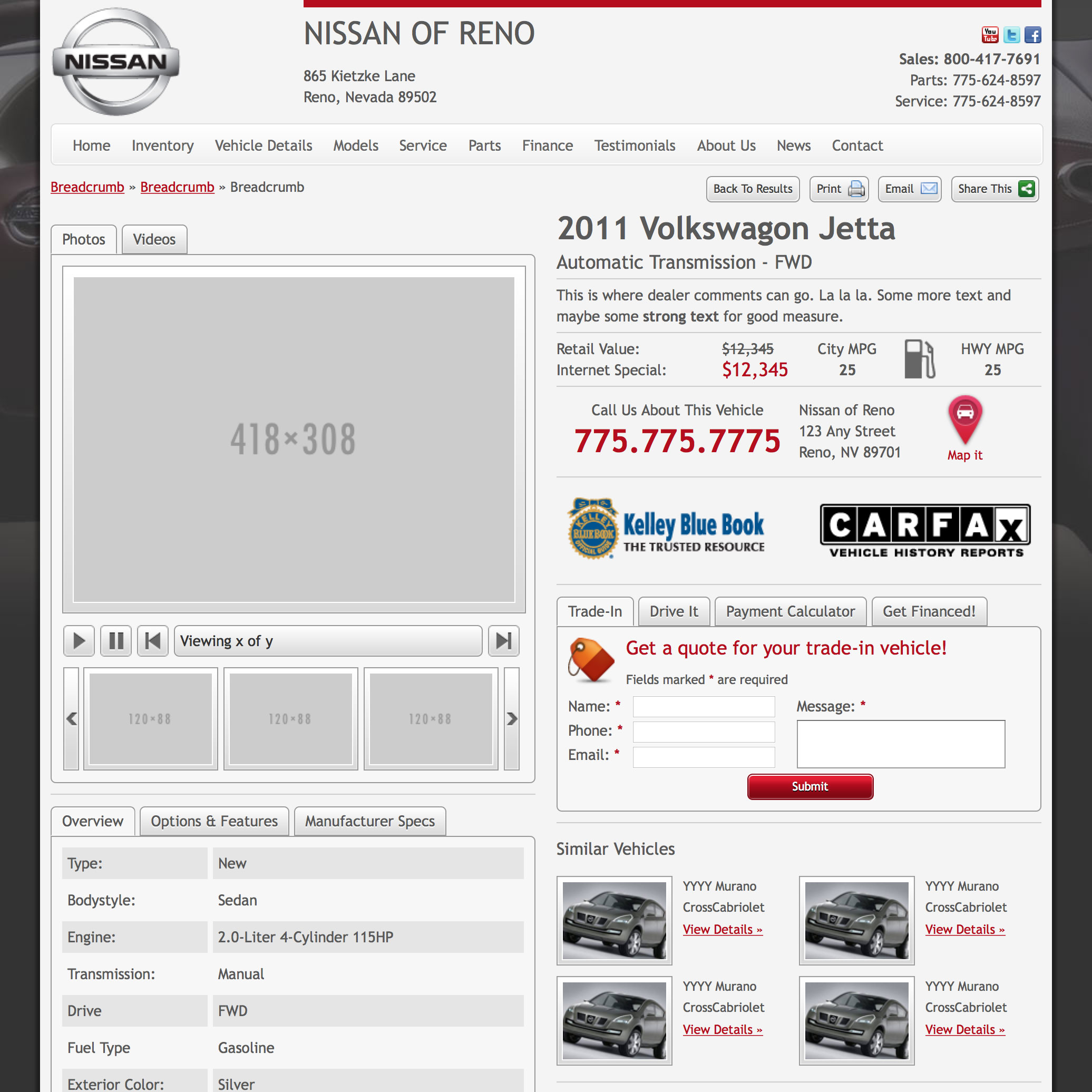 Nissan Kentico Template